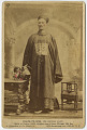 View Photographic History Collection: Circus digital asset: Cabinet card of 'Chang-Yu-Sing, The Chinese Giant'