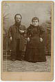 View Photographic History Collection: Circus digital asset: Cabinet card of Chief Debro and Wife