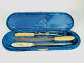 View Carving set digital asset: Celluloid Cutlery Set, Open