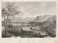 "View Lithograph of ""South End of S. Inez Mountains & S. Buenaventura Valley"" digital asset number 0"