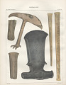 "View Lithograph of ""Indian Antiquities"" pottery artifacts digital asset: American Indian tools / Plate VIII"
