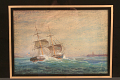 View Painting, American Brig off Cape Ann, 1845 digital asset: 'Brig Off Cape Ann'