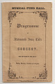 View Jenny Lind Concert Program, October 19, 1850 digital asset number 0