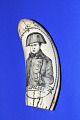View Plastic Scrimshaw Tooth (Fakeshaw), Late 20th Century digital asset number 0