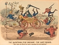 """View Lithograph, """"The Darktown Fire Brigade: The Last Shake"""" (2) digital asset number 0"""
