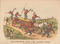 """View Lithograph, """"The Darktown Hook and Ladder Corps: Going to the Front"""" (2) digital asset number 0"""