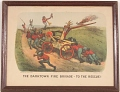 """View Lithograph, """"The Darktown Fire Brigade: To the Rescue!"""" (2) digital asset number 1"""