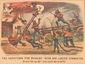 "View Lithograph, ""The Darktown Fire Brigade: Hook and Ladder Gymnastics"" (2) digital asset number 0"