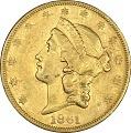 View 20 Dollars, United States, 1861 digital asset number 0