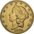 View 20 Dollars, United States, 1864 digital asset number 0