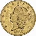 View 20 Dollars, United States, 1865 digital asset number 0