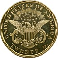 View 20 Dollars, Proof, United States, 1866 digital asset number 1