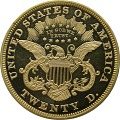 View 20 Dollars, Proof, United States, 1870 digital asset number 1