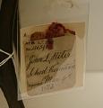View John L. Riter's 1873 School Desk and Seat Patent Model digital asset: Original tag.