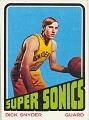 View Dick Snyder Basketball Card digital asset number 0