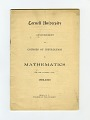 View Tests, Group of Entrance Examinations for Various Colleges digital asset: Examination, Cornell University Courses of Instructions in Mathematics, 1899-1900.
