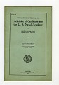 View Tests, Group of Entrance Examinations for Various Colleges digital asset: Regulations, Admission of Candidates in U.S. Naval Academy, June 1918.