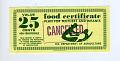 View 5 Dollar Food Certificate, U.S. Department of Agriculture, ca 1970 digital asset: Food certificate, Food Certificate $5.00 booklet.