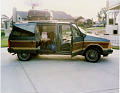 View 1986 Dodge Caravan digital asset: Photograph of Fred and Maryann Knoche's minivan loaded for a trip to Disney World. Image courtesy of the Knoche Family.
