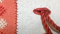 """View Greek embroidery """"Folk handicraft"""" purse; Denison House, Lowell, Mass. branch digital asset number 2"""