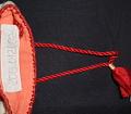 """View Greek embroidery """"Folk handicraft"""" purse; Denison House, Lowell, Mass. branch digital asset number 3"""