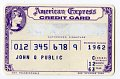 View Sample American Express Credit Card, United States, 1963 digital asset number 0