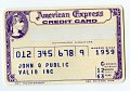 View Sample American Express Credit Card, United States, 1963 digital asset number 2