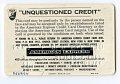 View Sample American Express Credit Card, United States, 1963 digital asset number 3