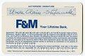 View First & Merchants BankAmericard Visa digital asset number 2