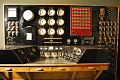 View Control Console for 105-D Hanford plutonium production reactor digital asset: Hanford reactor control console, front view