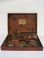 View Microscope digital asset: Huntley microscope accessories box, open