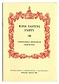View Pamphlet, Wine Tasting Party, 1954 digital asset number 0