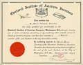 View Drum major baton patented by Morris Leonard digital asset: American Inventors certificate