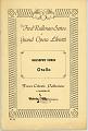View Otello digital asset: Playbill - Othello