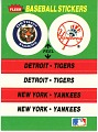 View Detroit Tigers and New York Yankees sticker digital asset: Tigers/Yankees sticker