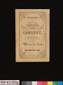 View Jenny Lind Concert Program, June 13, 1851 digital asset number 0