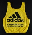 View Race bib worn by George Orton at the 2001 X-Games digital asset: Race bib worn by George Orton at 2001 X-Games