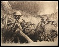 View Soldiers of the Telephone digital asset: Sketch by Harry Townsend, 1918, Soldiers of the Telephone
