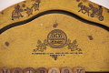 View Cress Educational Board digital asset: Close-up on thick yellow alphabet board which was manufactured by Cress Educational Boards, showing the Cress logo and patent dates.
