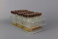 View Wire Test Tube Rack Containing 3 Sets of 32 Test Tubes - Used in Dr. Salk's Color Test for Polio Antibodies digital asset number 0