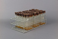 View Wire Test Tube Rack Containing 3 Sets of 32 Test Tubes - Used in Dr. Salk's Color Test for Polio Antibodies digital asset number 1