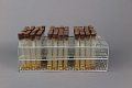 View Wire Test Tube Rack Containing 3 Sets of 32 Test Tubes - Used in Dr. Salk's Color Test for Polio Antibodies digital asset number 2