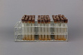 View Wire Test Tube Rack Containing 3 Sets of 32 Test Tubes - Used in Dr. Salk's Color Test for Polio Antibodies digital asset number 3