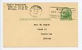 View Postcard to Mrs. Sugino from Toshio Yatsushiro digital asset number 0