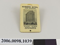View Marberc Hotel luggage tag digital asset number 1