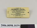 View Marberc Hotel luggage tag digital asset number 2