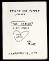 View Bread and Puppet News, Two Fables, First Fable, The Wind digital asset: Bread and Puppet Theater program