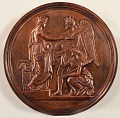 View Medal digital asset: Bronze Medal, Exhibition of the Industry of All Nations, New York, 1853, obverse.