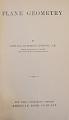View Book, Plane Geometry digital asset: Book, Plane Geometry, Title Page