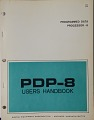 View Sheets, PDP-8 Users Handbook digital asset: Sheets, PDP-8 Users Handbook, Cover